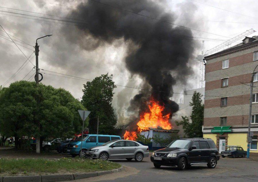 ВБрянске впожаре  наулице Медведева пострадал пенсионер