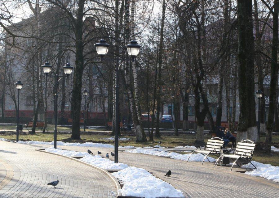 Парк железнодорожников вБрянске отремонтировали кновогодним праздникам
