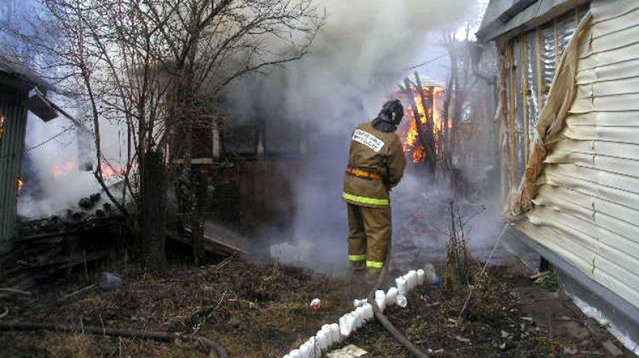 ВБрянске сгорела шашлычная