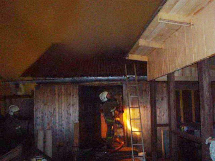 Из-за неправильного устройства печи в Бежице сгорела баня