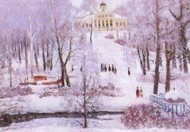 В брянском музее-заповеднике «Овстуг» покажут зимние пейзажи села