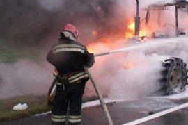В брянском селе горел трактор