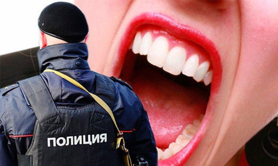 ВБрянске девушка укусила заруку полицейского
