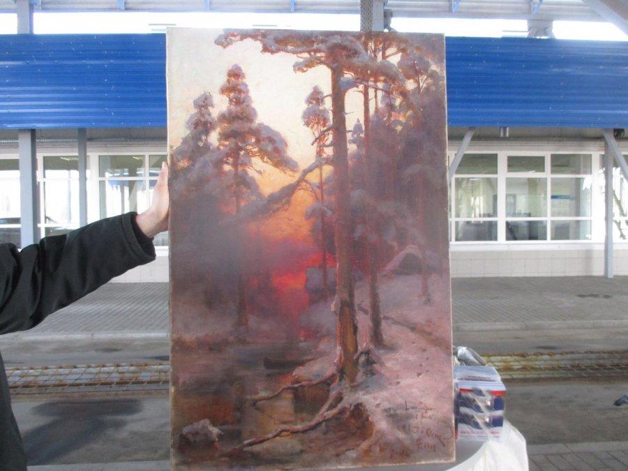 Брянские пограничники предотвратили вывоз уникальных картин начала двадцатого века