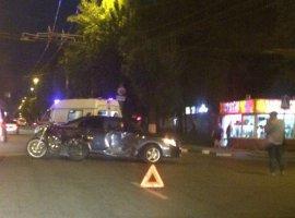 В Брянске попавший в ДТП мотоциклист отделался ушибом паха