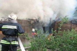 Вчера вечером в Суземке сгорел сарай