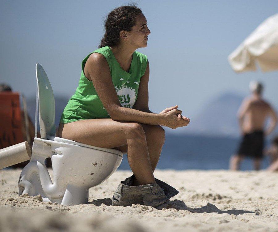 Сортир на пляже