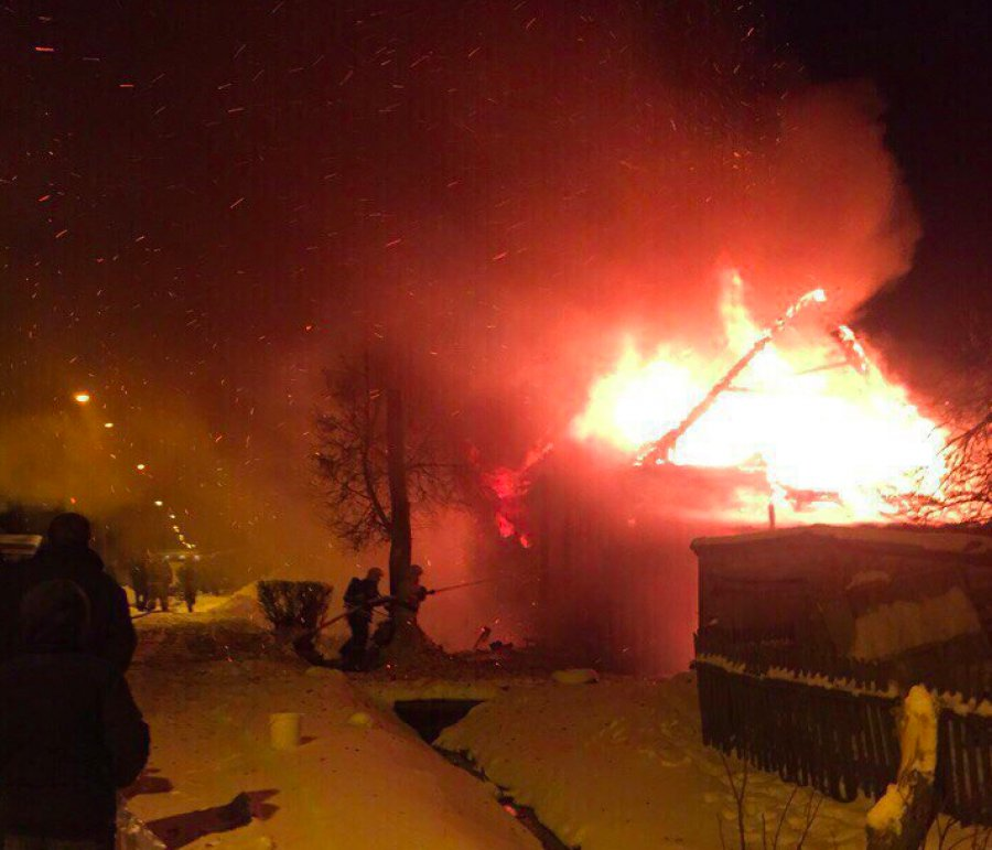 ВБрянске наКоломенской сгорел дом