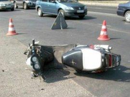 В посёлке Климово пьяный водитель упал с мопеда