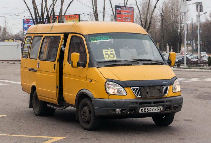 ВБрянске водители маршруток №55 нехотят работать повечерам