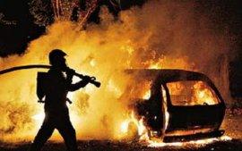 В центре Брянска ночью горели автомобили