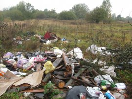 В Навлинском районе нашли свалку на сельхозземлях