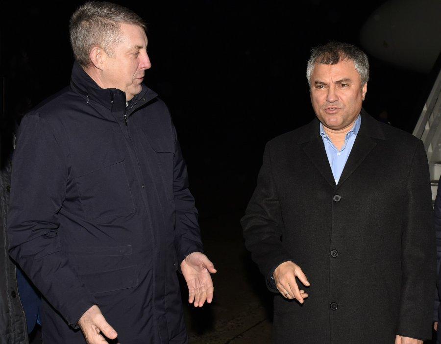 Спикер Госдумы Вячеслав Володин укрепил позиции Губернатора Александра Богомаза