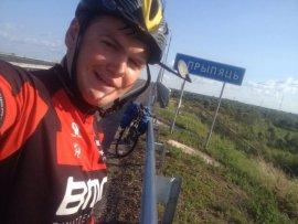 Брянский велотурист выложил видео приключений в Беларуси