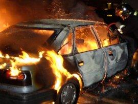 В Брянске сгорел гараж с автомобилем
