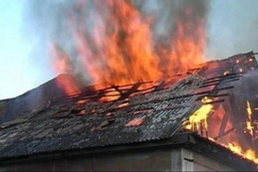 ВРомнах сгорел дом