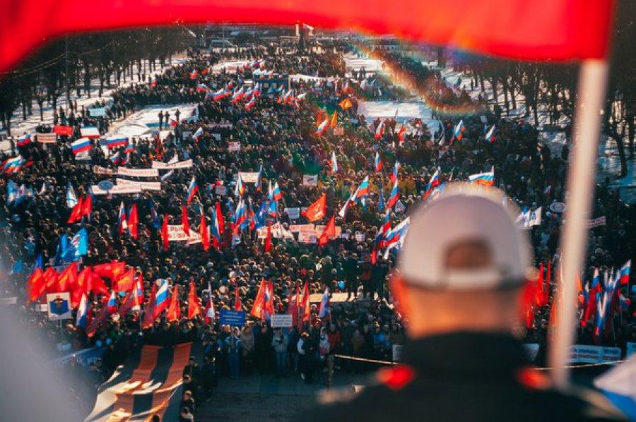 """На """"крымском"""" митинге в Брянске насчитали 15 тысяч человек"""