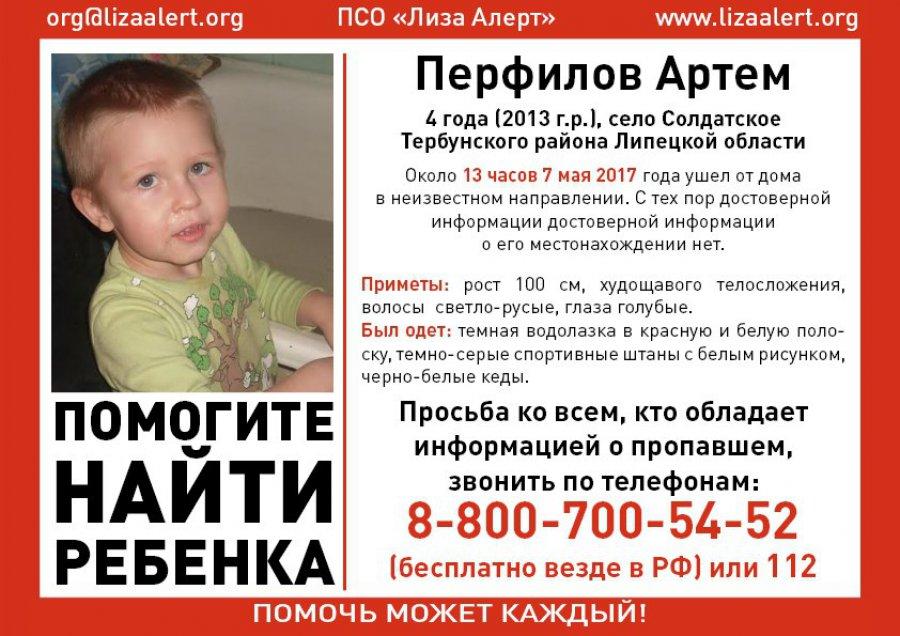 Под Липецком изпесочницы похитили 4-летнего ребенка