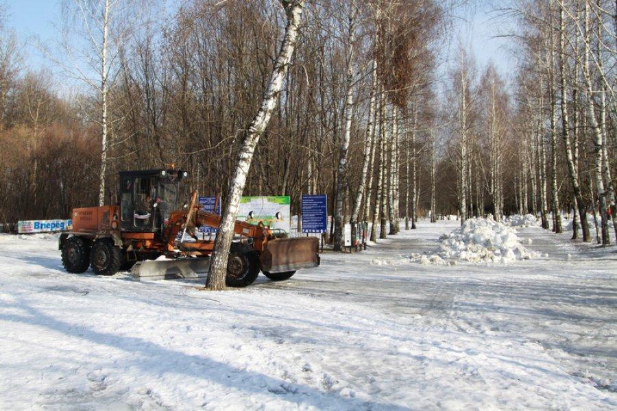 """В Брянске на """"Лыжню России-2016"""" завезли 60 машин снега"""