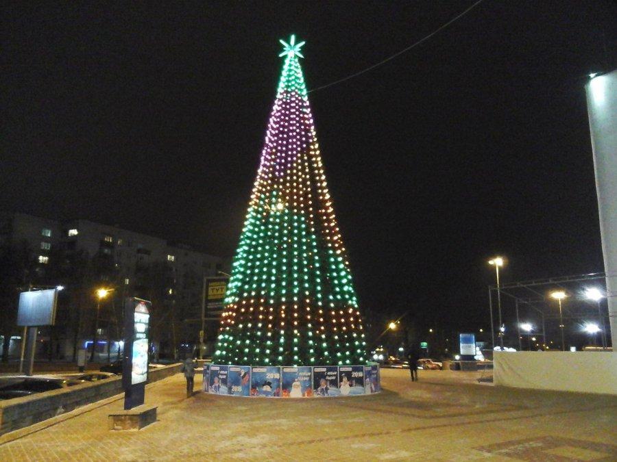 ВБрянске около ТРЦ «Аэропарк» установили новогоднюю елку