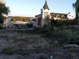 В Брянске на бульваре Гагарина снова уничтожили деревья