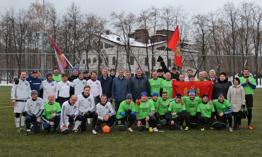 Команды Совета Федерации ибрянского руководства сыграли вфутбол иволейбол