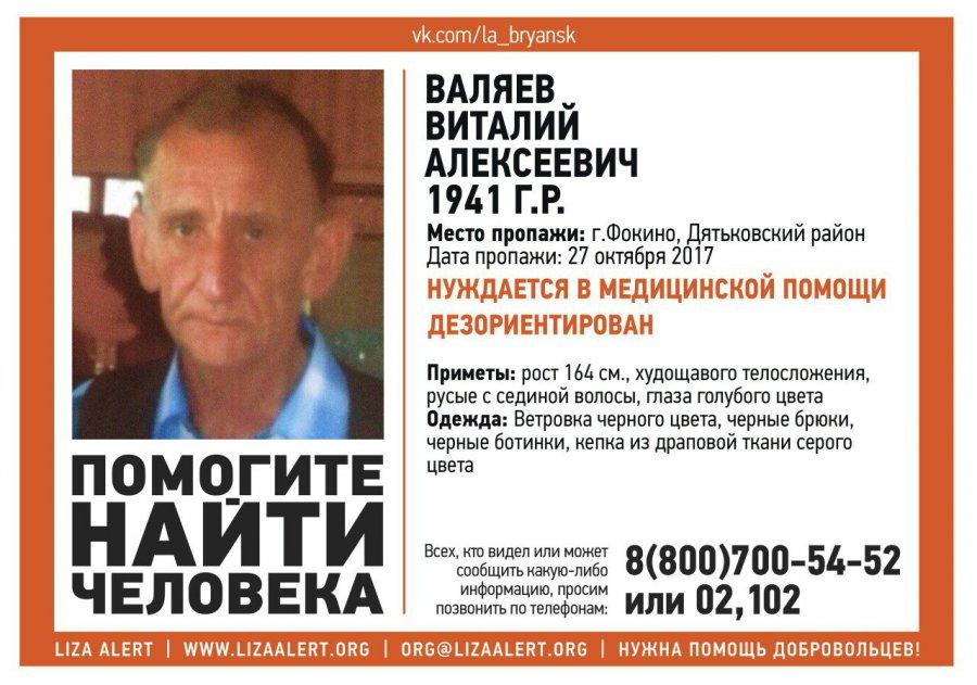ВБрянске ищут бесследно пропавшего 81-летнего пенсионера сбольшой бородой