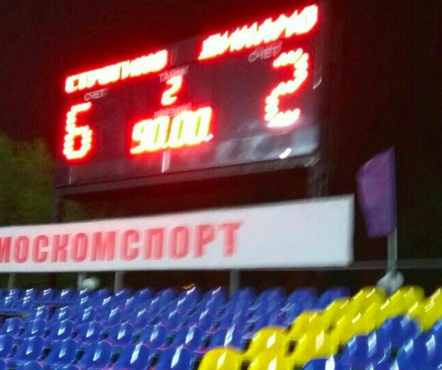 «Строгино» забило брянскому «Динамо» шесть мячей