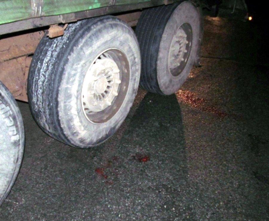 Вбрянском селе упавшую сповозки женщину переехал грузовой автомобиль