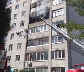 В Брянске на Станке Димитрова из горящей многоэтажки спасли 8 человек