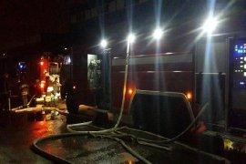 В Бежицком районе Брянска тушили горящую баню