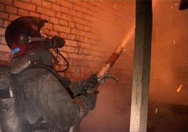 В Брянске на Транспортной утром горел гараж