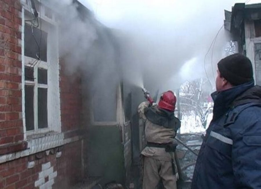 ВФокинском районе Брянска горел дом