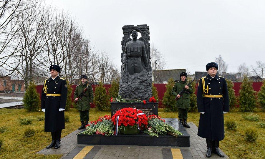Монумент погибшим вСирии русским военным открыли вБрянской области