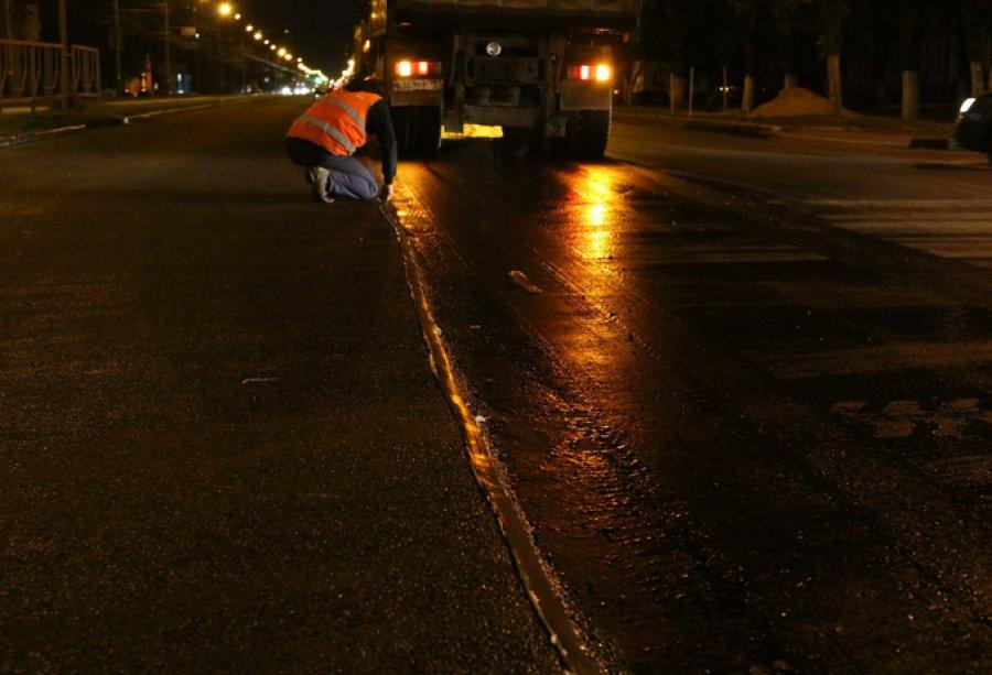 ВБрянске дорогу наМосковском проспекте укрепили битумным «пластырем»