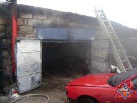 В Климовском районе сгорел гараж