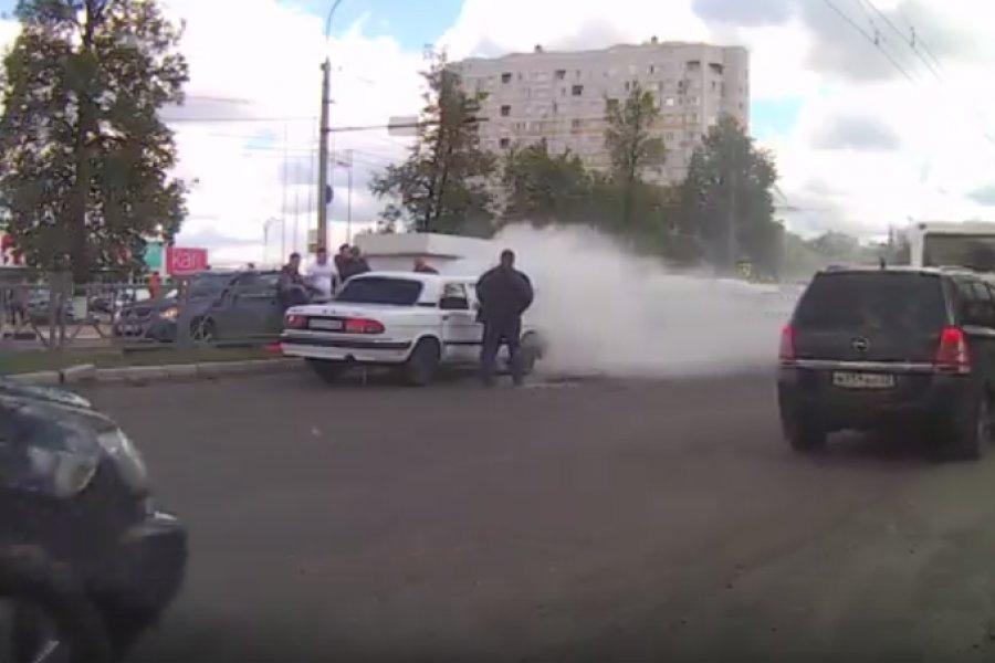 Благородный поступок брянских водителей сняли на видео
