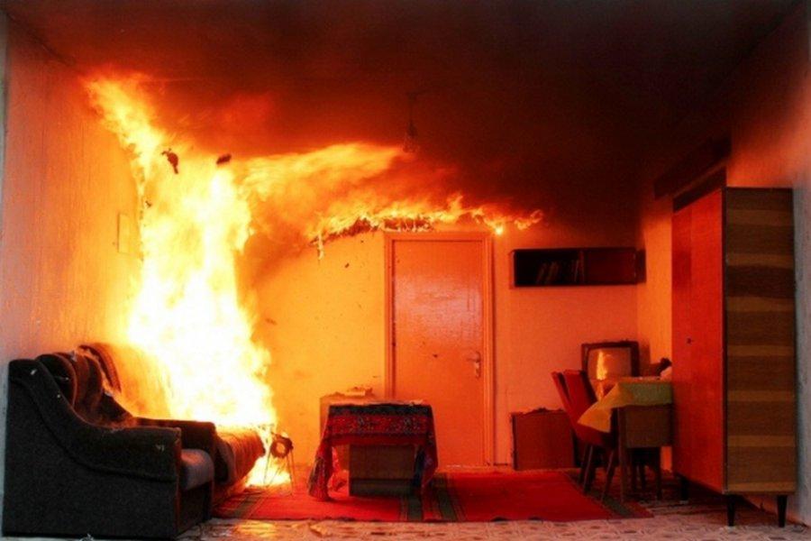 ВБрянске вквартире загорелась перегородка ванной
