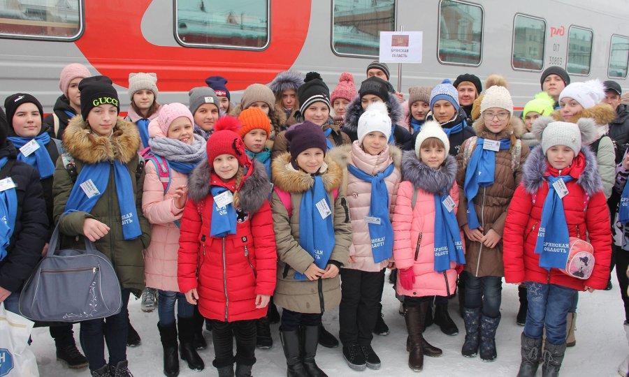 Брянские дети прибыли в столицу России наПрезидентскую ёлку
