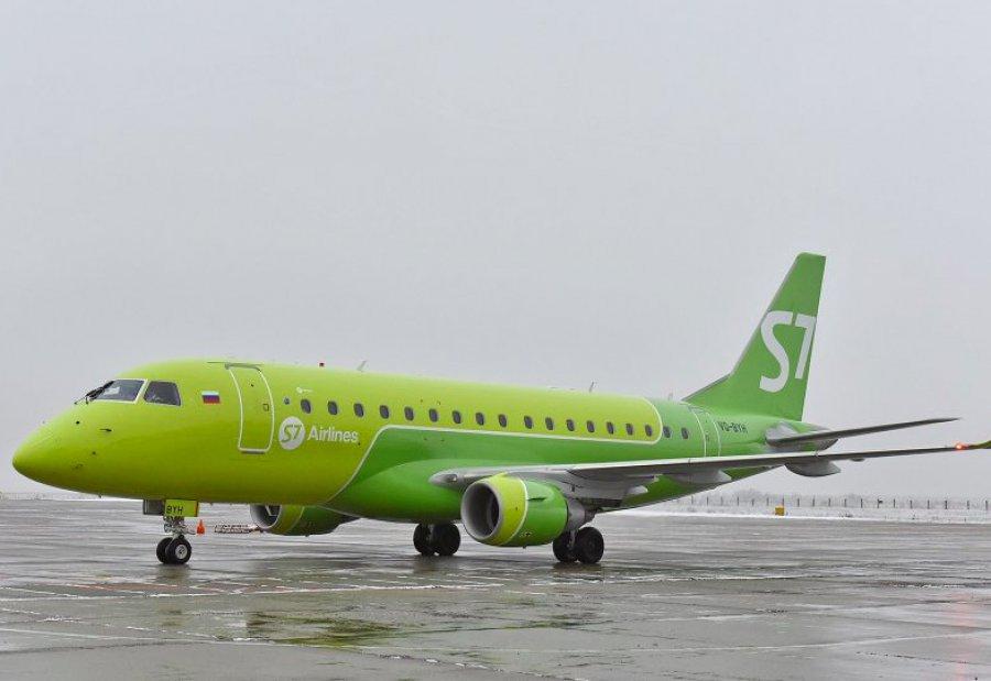 Вылетевший изПетербурга вБрянск самолёт S7 вернулся из-за снегопада