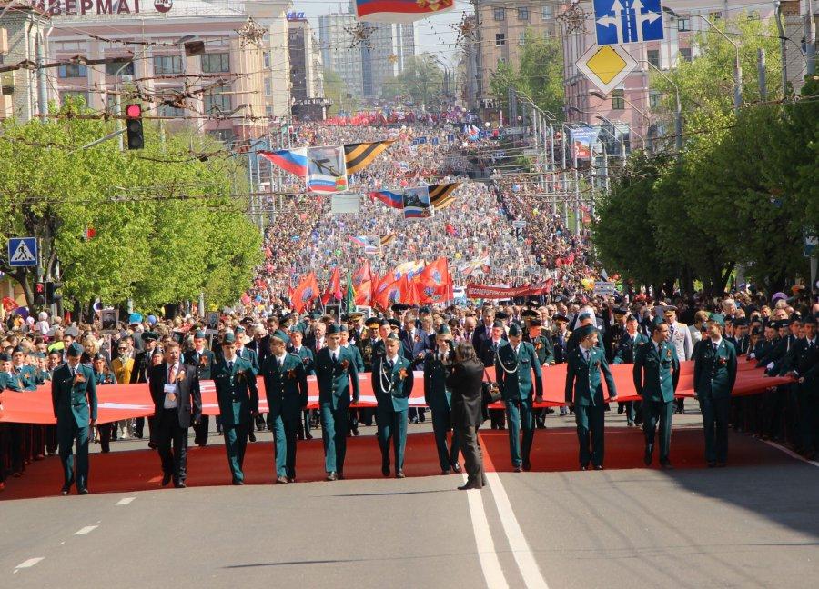 В Брянске на Параде Победы