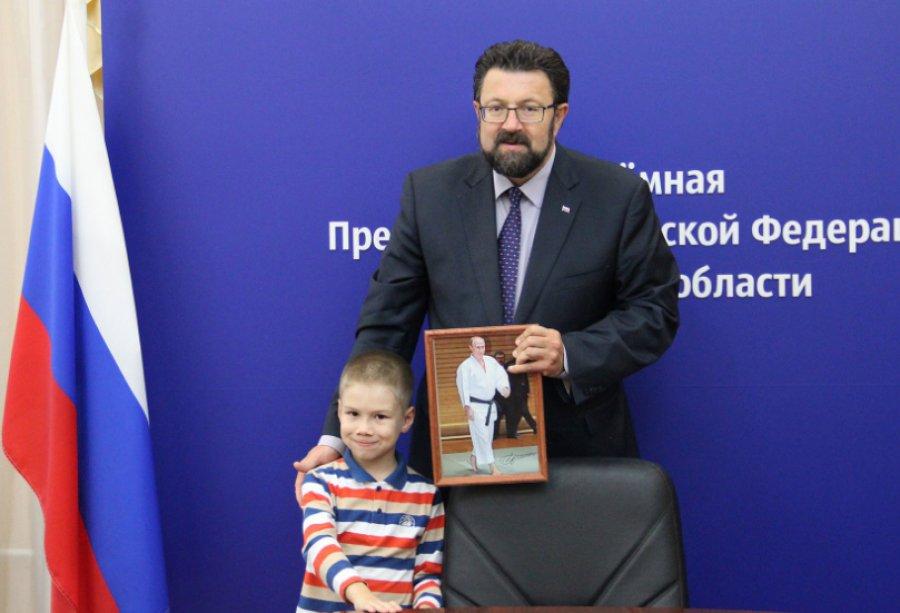 Брянскому парню подарили Владимира Путина савтографом