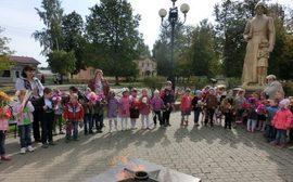 В брянском детском саду почтили память красноармейцев