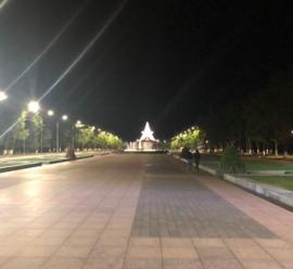 В Брянске включили новое освещение на Кургане Бессмертия
