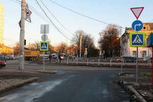 Московский проспект благоустраивают в Брянске