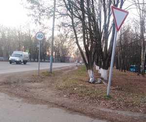 В Брянске рухнула на землю камера фиксации нарушений