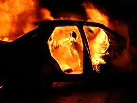 В Брянске на Крахмалёва сгорел легковой автомобиль