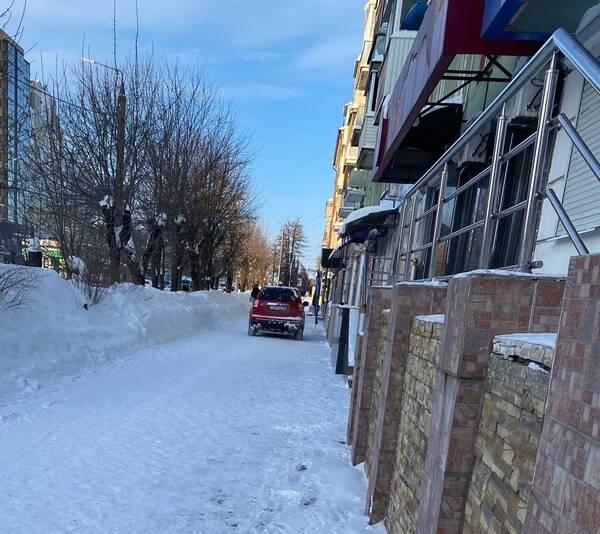 В Брянске водитель «Хонды» устроил заезд по тротуару