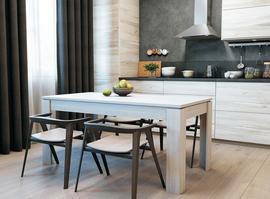 Стеклянные и деревянные столы