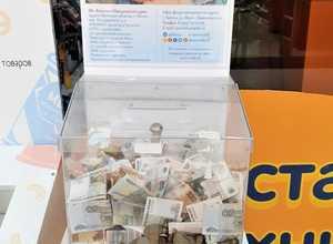 Брянцы в торговом центре собрали больным детям более 20000 рублей